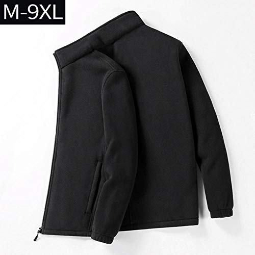 Heren eenkleurig jack casual heren jas fleece verdikt warm trenchcoat heren sweatshirt mantel plus maat 7XL 8XL 9XL