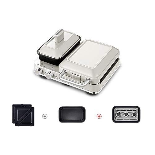 SSZZ Kleine Haushalt Toast Druckbackmaschine Multifunktions-Frühstücksmaschine Sandwich Light Food Maschine,Rosa,B