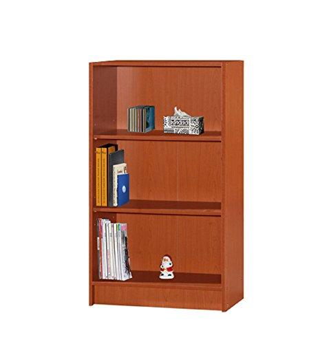 Hodedah Bücherregal mit 3 Regalen, Kirsche