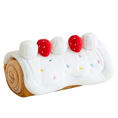 BITEME ROLLCAKE TOY ペット ロールケーキ ケーキ 犬 おもちゃ 韓国 かわいい 可愛い ペット用品 おやつ 可愛い 音 噛む 壊れ ない しつけ 好き プレゼント 知育 グッズ トイ おしゃれ パピー 遊ぶ