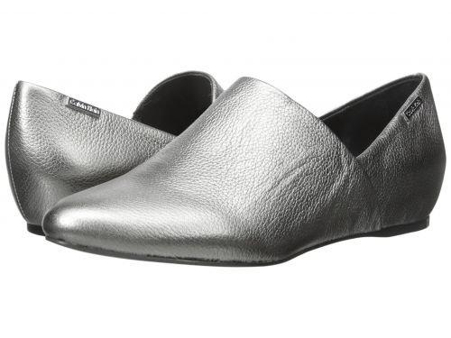 Calvin Klein(カルバンクライン) レディース 女性用 シューズ 靴 ローファー ボートシューズ Magna – Anthracite Metallic Grain Leather 5 M [並行輸入品]