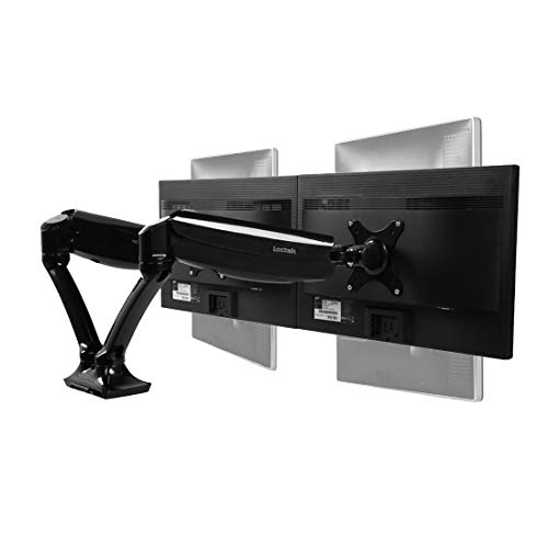 Loctek D5D Dual Monitor Arm Desk Monitor Mounts Fits 10'-27' Monitors, Gas...