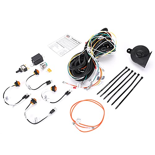 UTV/ATV Turn Signal Kit, kemimoto Universal Street Legal With Toggle Switch and Horn Kit Amber LED Easy Installation Compatible With Honda, Polaris, Can-Am, Kawasaki