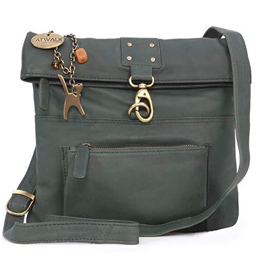 Catwalk Collection Handbags - Ladies Leather Cross Body Bag - Adjustable Shoulder Strap -...