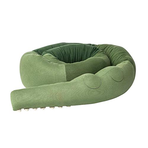 Sebra - Gestricktes Kissen, Stillkissen - XXL - Sleepy Croc - Pine Green - 340 cm