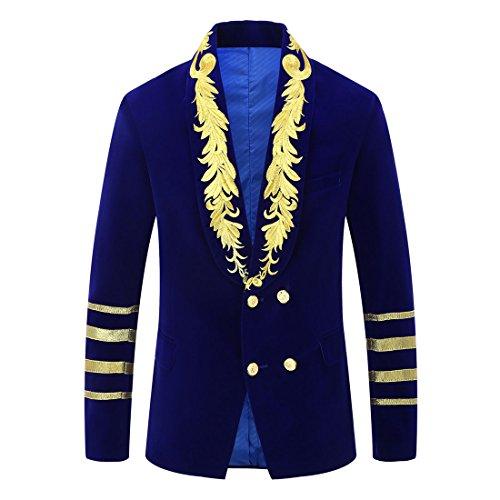 Velvet Military Jackets Men