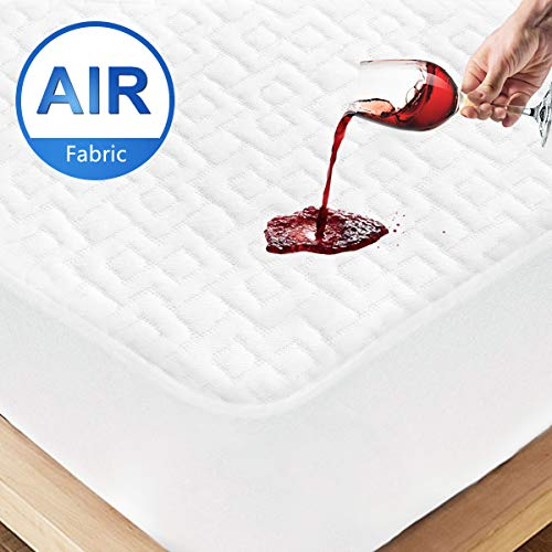 ENITYA Waterproof California King Size Mattress Protector  3D Air Fabric Breathable Hypoallergenic amp Noiseless Mattress Pad Cover