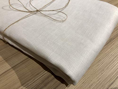 Vanligt rent 100 % linnetyg linne material för klädtillverkning, gardiner, bröllop, heminredning - 140 cm brett (säljs per meter) (CREAM)