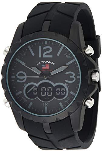 U.S. Polo Assn Sport Herren-Armbanduhr US9287 mit schwarzem Kautschukband