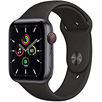Apple Watch SE 44mm GPS & Cellular Smartwatch (Space Gray Aluminum Case with Black Sport Band)