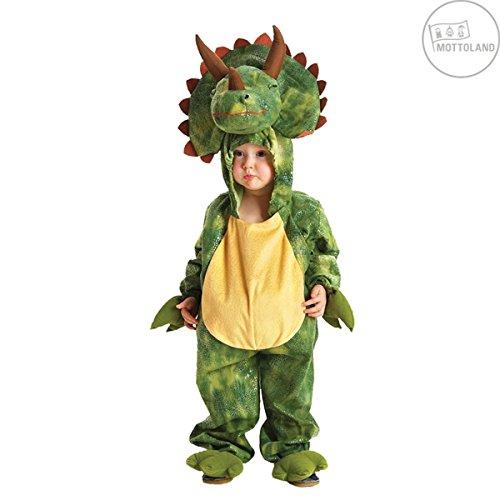 Kostüm Kinder Triceratops Kapuzenoverall Kinderkostüm Dino (L)
