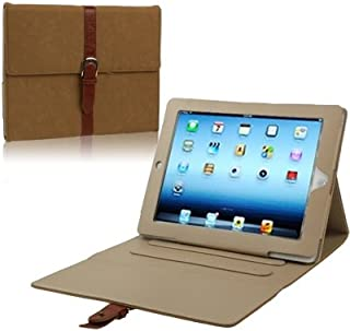 LFPING New Leather Case/Bag with Third Gear Holder & Buckle and Sleep/Wake-up Function for iPad 4 / New iPad (iPad 3) / iPad 2 (Color : Brown)