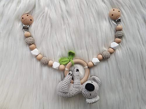 mallilu Kinderwagenkette Koala gehäkelt Koko mit Name Gravur (Koala)