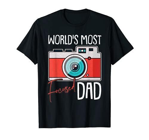 Hombre Fotógrafo Día Del Padre Fotografía Genial Papá-Dy Papa Camiseta