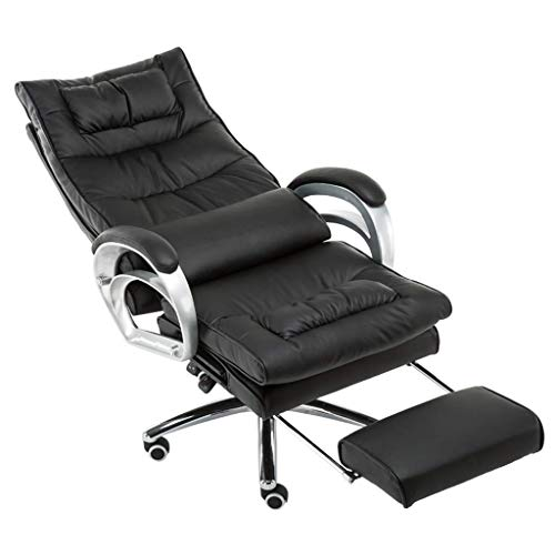 N/Z Tägliche Ausrüstung Stühle Büro Executive Drehstuhl mit Massage Lendenwirbelstütze |76 cm hohe Rückenlehne Großer Sitz und Fußstütze Computerstuhl