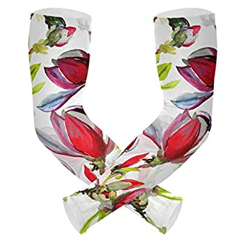 XIANGYANG Cooling Arm UV Sun Protection - Flowers Magnolia Tattoo Cover
