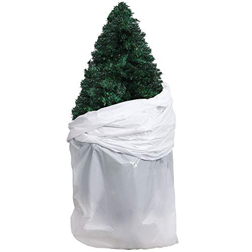 URATOT Large White Christmas Tree Storage Bag Removal Bag Christmas Tree Plastic Bag Christmas Tree Poly Storage Bag 9 x 4 Feet