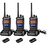 Retevis RT76P Rechargeable Walkie Talkies for Adults,Long Range Rugged Two Way Radio, 30 Channels VOX Radio,for Outdoor Camping Hunting(3 Pack)