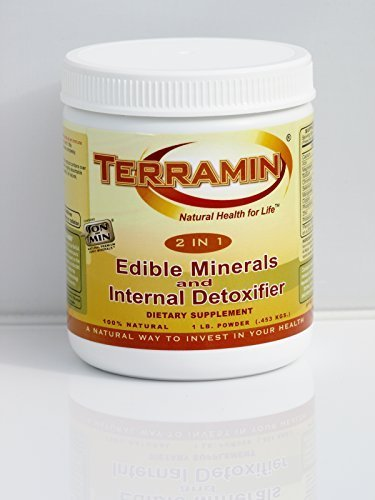 Ion Charged Terramin Mega-Mineral Supplement & Internal Detoxifier/Cleanser, 1-Pound Powder Jar by Ion Charged Minerals