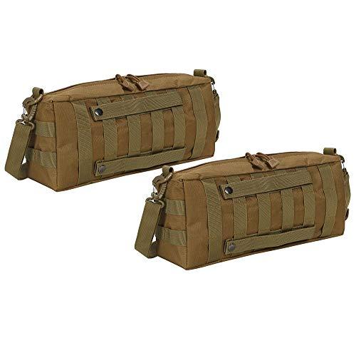 サバゲー バッグ 2個 セット MOLLE モール システム ブラック カーキ ブラウン サイド ポーチ バック パック モーリー 釣り 小物 入れ ミリタリー カジュアル くもり止め くま グローブ グレネード こども ゴーグル 手榴弾 銃 18 アサル