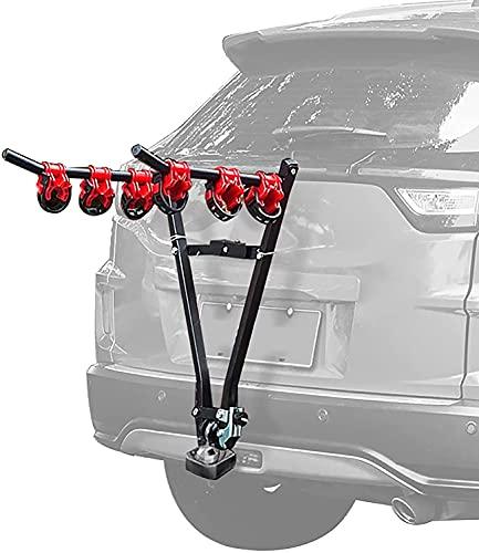 WXking Bike rack for car, Universal 3 Bike Bicycle Tow Bar, Car Mount, Car Back Rack, Bicycle Carrier, Universal Twin Cycle Carrier, Rack Rear Mounted Universal Travel Transit