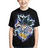 Camiseta de Dragon Ball para Adolescentes y Niños,HombreTop de Anime Japonés Manga Corta Patrón 3D Verano Casual Manga Corta (XL)