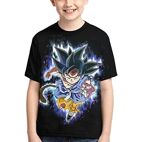 Camiseta de Dragon Ball para Adolescentes y Niños,HombreTop de Anime Japonés Manga Corta Patrón 3D Verano Casual Manga Corta (XS)