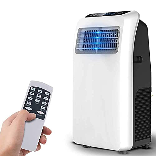 Portable Air Conditioner, Mobile Air Cooler AC with Dehumidifier for Rooms Up To 200 Sq.Ft, 3-In-1 with Remote Control, 8000 BTU, for Home & Office