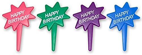 DecoPac Happy Birthday DecoPic Cupcake Picks (12 Count) by DecoPac