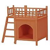 BaoYPP Caseta para Perros de Plástico Casa de Perro de la casa de Perros Tienda de Perrera al Aire Libre con balcón con Suministros para Mascotas a Prueba de Agua y a Prueba de Fugas Montaje Sencillo