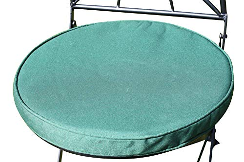 Cojín para muebles de jardín - Cojín redondo para silla bistro - Color verde