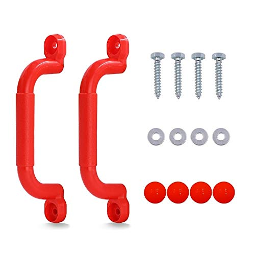 LiuliuBull L 1 Pair Playground Nonslip Handle Mounting Hardware Kits Climbing Frame Stair Handrail Swing Outdoor Sports (Color : Red)