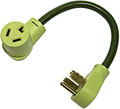 NemaTech Dryer 3 Prong NEMA 14-30P to 10-30R, 10AWG, 30AMP, 250V, 7500W, Dryer Tesla Electric Vehicle EV Power Adapter Cable (1.5 ft)