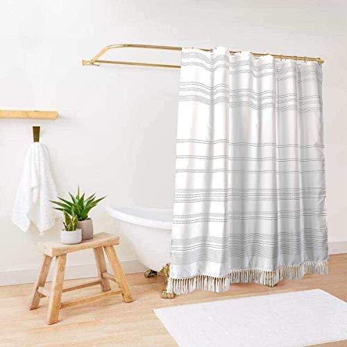 Boho Farmhouse Shower Curtain / Black and White Boho Farmhouse Shower Curtain / Standard Size 72x72 Black and White Boho Farmhouse Shower Curtain / Hooks Included with Boho Farmhouse Shower Curtain