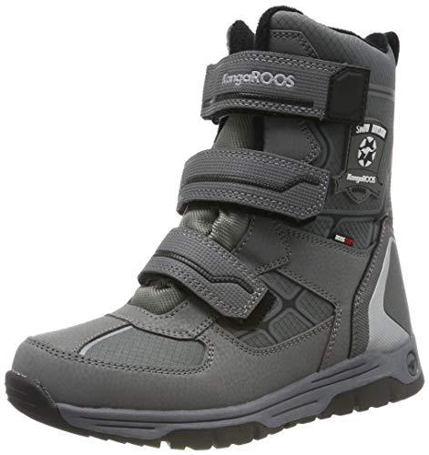 KangaROOS K-marshal V Rtx dziecięce buty zimowe uniseks, szary - Grau Steel Grey Jet Black 2019-39 EU