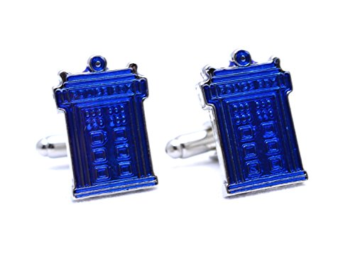 DR, die Blau Tardis Police Box Manschettenknöpfe inspiriert - Hemd Accessoires für Männer