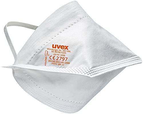 30x uvex silv-Air lite 4200 Einweg-Staubmaske - EN 149 FFP2 - Maske ohne Ventil mit Kopfband