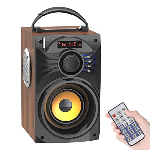 Portable Bluetooth Speakers with Subwoofer Rich Bass Wireless Speaker...