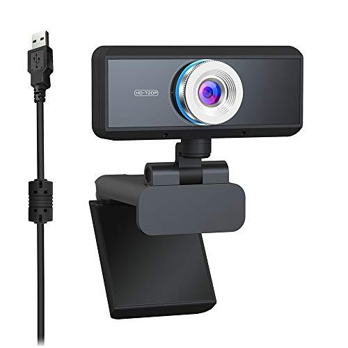 YWZQ HD Webcam HD 720P, Widescreen HD Video Calling HD Luce Correzione attenuazione di Rumore Mic, per Skype FaceTime Webex PC Laptop Tablet