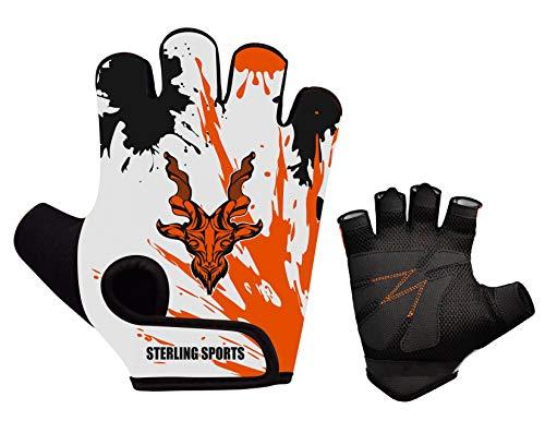 Sterling Sport Gewichtheffen Handschoenen Gym Workout Training Fitness Bodybuilding Oefening Fietsen/Fietsen, Track Fietsen, Mountainbike BMX Motorrijden Joggen Wandelen