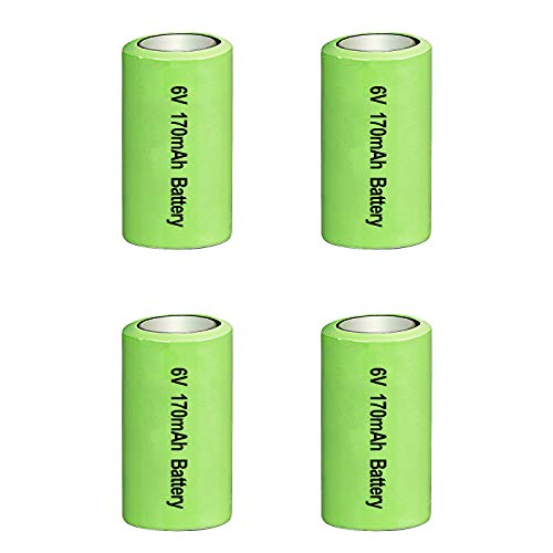 Amityke 6V Battery for pet Stop Dog Collar Compatible with PCC-100 & PCC-200 PTPIR-003 PTPFS-003 Systems for Pet Stop Collars 4 Pack