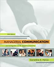 Geraldine Hynes'sManagerial Communication: Strategies and Applications [Hardcover](2010)