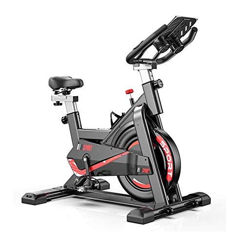 UIZSDIUZ La Bici de Ciclo Indoor, Bicicleta estacionaria Ejercicio, cómodo cojín del Asiento, Pesado Volante, Asiento Ajustable y el Manillar, con el Soporte de la Tableta