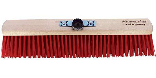 ARNDT Balai Osnabrück S Meister qualité brosse salle Balai Balai Elaston Balai Extra solide support en métal 28 mm 50 cm Rot