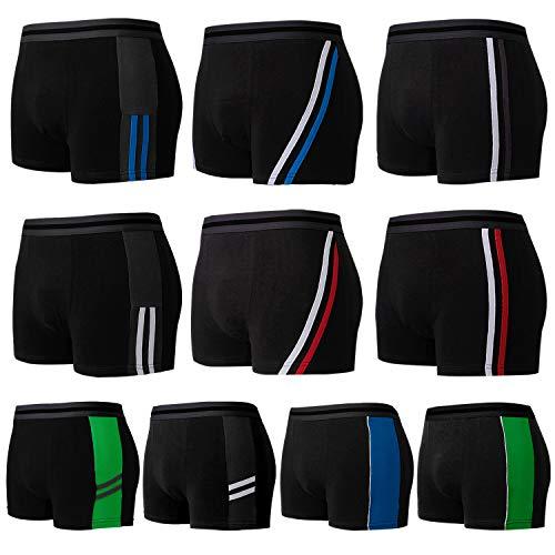L&K 10-pack boxershorts för män retro shorts med bra mönster sommar 2019 bomull 1102, 1112-10-pack, L