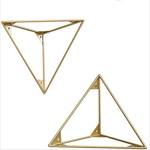Liyijiestore 15×15cm Regalträger Dreieck Schwerlast DIY Wand Montiert Regalträger Geometrisches Design -Eisen/Golden (Size : 15×15cm/0.6×0.6inch)