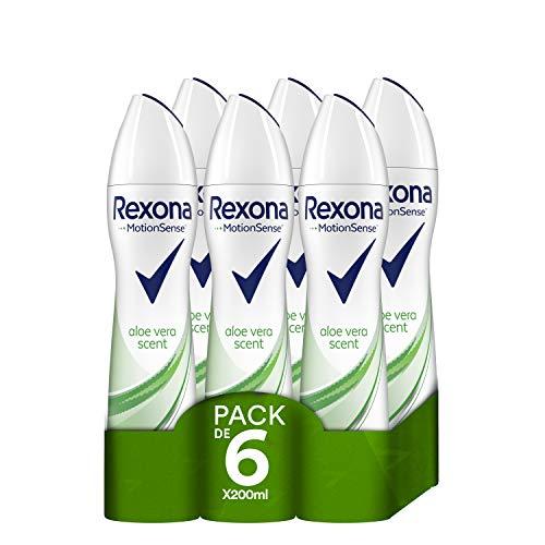 Rexona Aloe Vera Déodorant – 6 x 200 ml (total : 1200 ml.)