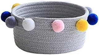 Coton Corde Stockage Basket Sundries sous-vêtement Boîte de Rangement Cosmétique Organisateur Papeterie Panier à Linge (Co...