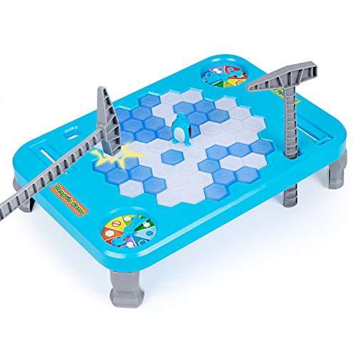 iNeego Pinguin Trap Save The Penguin für Kinder Pinguin-Falle Eisbrecher Spiel Balance Eiswürfel Sparen Pinguin Spiel Puzzle Tisch Desktop Spiel Schlagen Interaktives Teil Familie Strategiespiel(L)