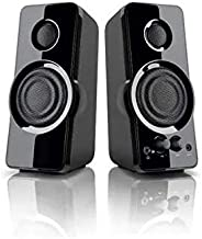 Blackweb 2.0 Powerful Speaker System with AUX-in jack for PC, NB, MP3 and other 3.5mm audio devices 2.5W x 2